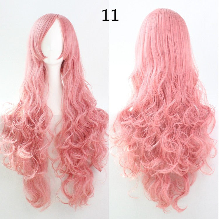 COS Wig Hair Extension woman wigs Hatsune Miku Cosplay Wig long hair wig wigs synthetic hair cap multicolor hair curly wig hair S2312-11