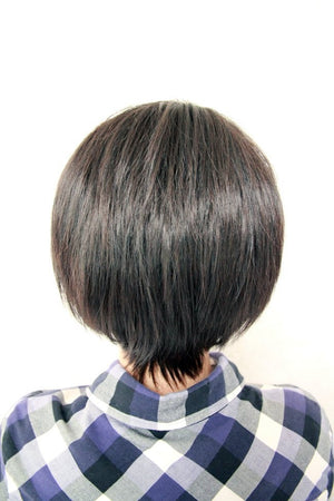 Fashion 28cm Mens Short Haircut Anime Cosplay Attack on Titan Levi Wig,New Highlight Ombre Colorful Candy Colored synthetic Hair Extension Hair piece 1pcs WIG-365C
