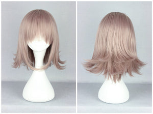 The Broken 2 Projectile Nanami Chiaki 35cm Medium Female Cosplay Wig,Colorful Candy Colored synthetic Hair Extension Hair piece 1pcs WIG-502A