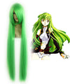 Beautiful Fashion Style Long Straight Green Wig Japanese CODE GEASS C Costume Cosplay Wig,Colorful Candy Colored synthetic Hair Extension Hair piece 1pcs WIG-026A