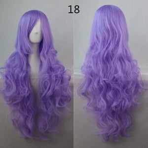 COS Wig Hair Extension woman wigs Hatsune Miku Cosplay Wig long hair wig wigs synthetic hair cap multicolor hair curly wig hair S2312-18
