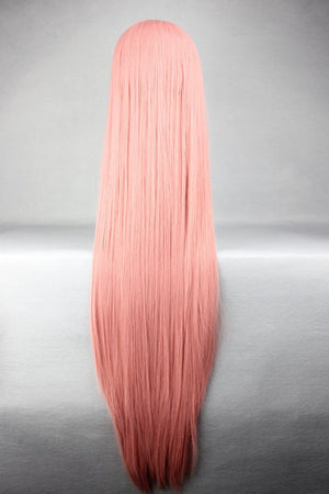 100cm Long Straight Smoke Pink High Quality Synthetic Vocaloid Luka Popular Cosplay Wig,Colorful Candy Colored synthetic Hair Extension Hair piece 1pcs WIG-018E