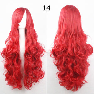COS Wig Hair Extension woman wigs Hatsune Miku Cosplay Wig long hair wig wigs synthetic hair cap multicolor hair curly wig hair S2312-14