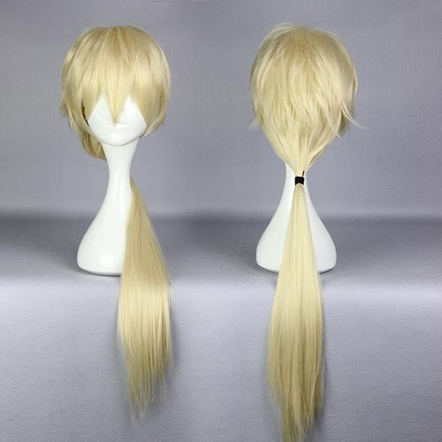 Yuri Kuma Arashi-Life Sexy gold cosplay wig aliexpress online wholesale newest 80cm long straght Japanese anime gold wig cosplay,Colorful Candy Colored synthetic Hair Extension Hair piece 1pcs WIG-576D