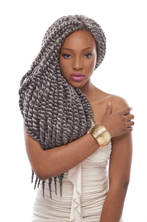 22'' Havana mambo twist crochet braid hair extensions synthetic braiding hair jumbo crochet twist box braids hair
