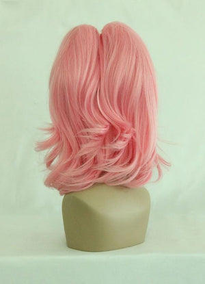 Classical Design Code Geass Anya Alstreim Style Pink Medium Long Ponytail Cosplay Wig,Colorful Candy Colored synthetic Hair Extension Hair piece 1pcs WIG-029A