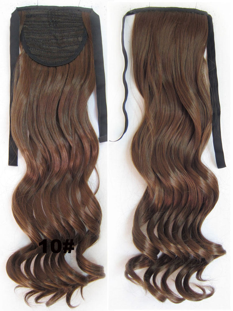 Curly Synthetic Hair Extensionribbon Ponytail Synthetic Hair