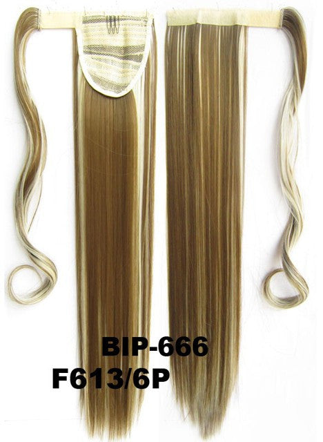 Hot sell European fashion style clip in on Velcro wrap straight hair ponytail invisable hairpieces,Hair Extension,Ponytail with band,Ribbon Ponytail,Wig Hairpiece,synthetic hair wig,woman wigs,wig hairs,Bath & Beauty,Accessories BIP-666 F613/6P