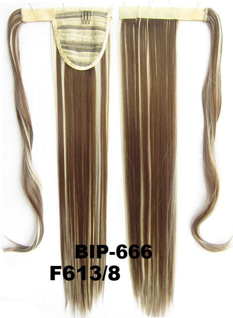 Hot sell European fashion style clip in on Velcro wrap straight hair ponytail invisable hairpieces,Hair Extension,Ponytail with band,Ribbon Ponytail,Wig Hairpiece,synthetic hair wig,woman wigs,wig hairs,Bath & Beauty,Accessories BIP-666 F613/8