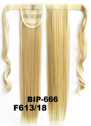 Hot sell European fashion style clip in on Velcro wrap straight hair ponytail invisable hairpieces,Hair Extension,Ponytail with band,Ribbon Ponytail,Wig Hairpiece,synthetic hair wig,woman wigs,wig hairs,Bath & Beauty,Accessories BIP-666 F613/18