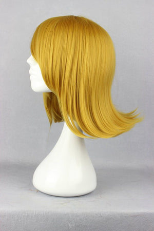 New Arrival 40cm straight Short blonde Anime Wig Cosplay,Colorful Candy Colored synthetic Hair Extension Hair piece 1pcs WIG-243A