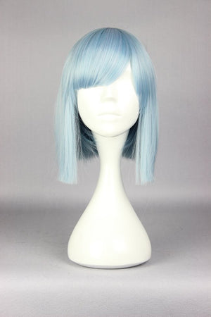 New design YURI KUMA ARASHI Life Cool 34cm long blue sky Synthetic Hair anime cosplay fashion wig,Colorful Candy Colored synthetic Hair Extension Hair piece 1pcs WIG-576E
