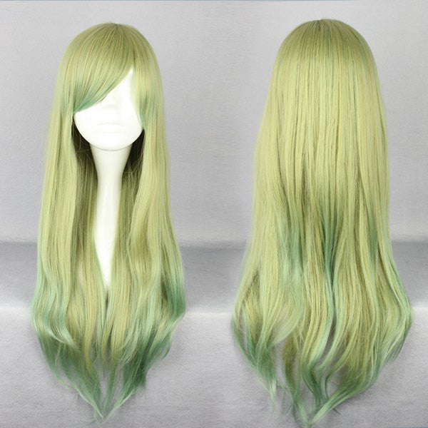 Popular Style long Hair Cuts Anime Cosplay Multi Color Wig,Colorful Candy Colored synthetic Hair Extension Hair piece 1pcs WIG-500A
