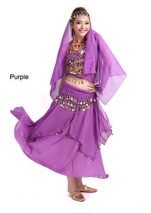 2014 new belly dance India dance costume suits performing service upscale exercise suits T007-Purple