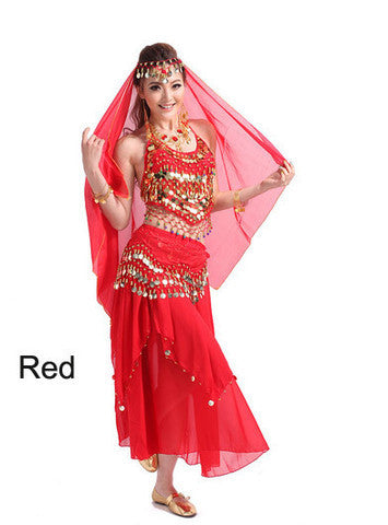 2014 new belly dance India dance costume suits performing service upscale exercise suits T007-Red