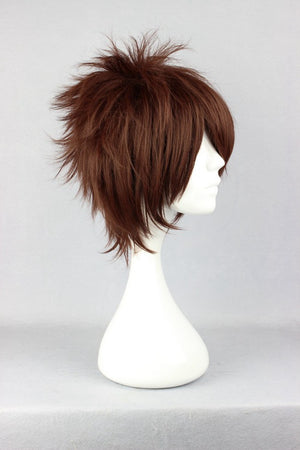 Heat Resistant 30cm Naruto Gaara Cosplay Wig Short  Brown Wig Anime cosplay Party Wig NARUTO-Gaara cartoon Anime Party Wig,Colorful Candy Colored synthetic Hair Extension Hair piece 1pcs WIG-238A