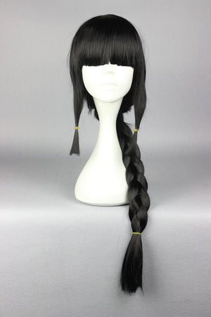 75CM Black With One Braid Kantai Collection KanColle-Akatsuki Cosplay Party Costume Full Wig Fashion Women Syle,Colorful Candy Colored synthetic Hair Extension Hair piece 1pcs WIG-577J