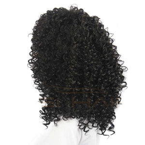 Afro Kinky Curly Wigs Short Synthetic Wigs For Black Women African American Short Wig