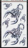Scorpion tattoo 3D stereo waterproof unisex tattoo stickers cartoon children funny tattoo stickers cover up of scar
