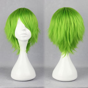 Heat Resistant Synthetic cosplay Kidou Senshi Gundam 00-Ribbons Almark light green wig,New Highlight Ombre Colorful Candy Colored synthetic Hair Extension Hair piece 1pcs WIG-264A