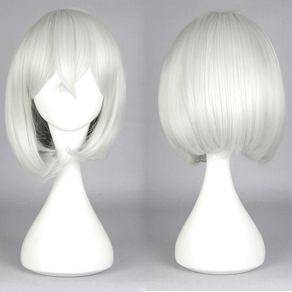 2015 New pop style ToukenRanbu HonebamiToushiro Heat resistant Short Bob wig Silvery White Cosplay Wig,Colorful Candy Colored synthetic Hair Extension Hair piece 1pcs WIG-579G