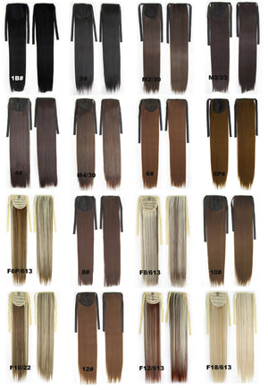 Hair Extension,Ponytail with band,Ribbon Ponytail,Straight hair,Wig Hairpiece,synthetic hair wig,woman wigs,wig hairs,Bath & Beauty,Accessories RP-666 F8/613