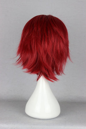 Brother Detective Inaba-Inaba Hiroshi Wholesales Price Heat Resistant Synthetic red Short Wigs,New Highlight Ombre Colorful Candy Colored synthetic Hair Extension Hair piece 1pcs WIG-263C