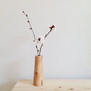 Wood Solid Vase