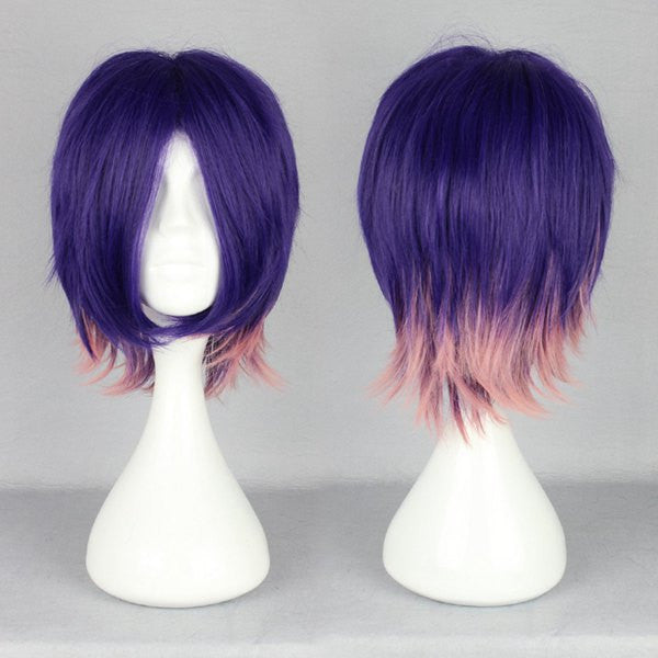 Devils And Realist Kevin Cecil Multi Color Short Cosplay Wig