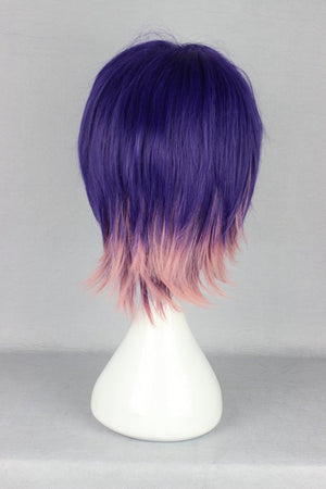 Devils and realist-Kevin cecil multi color short cosplay wig,Colorful Candy Colored synthetic Hair Extension Hair piece 1pcs WIG-366C