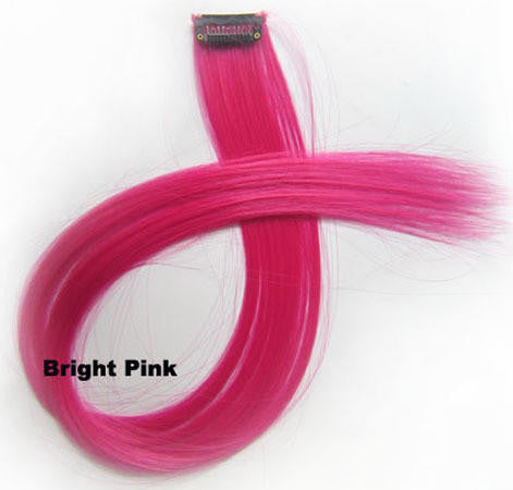 "1 pcs 22"" Straight Hair Price,Bright Pink New Highlight Straight Ombre Colorful Candy Colored Colorful single Clip On In synthetic Hair Extension Hair piece"