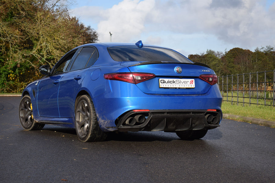 Alfa Romeo Giulia Quadrifoglio V6 - Sport System with Active Valves TITANIUM option (2017 on)