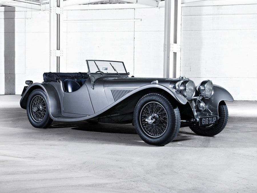 Jaguar SS100 2.5 (Single System) - Stainless Steel Exhaust (1936-37)
