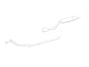 Mercedes 300 SE / SEL / SEC W111 and W112 - Stainless Steel Exhaust (1961-66)