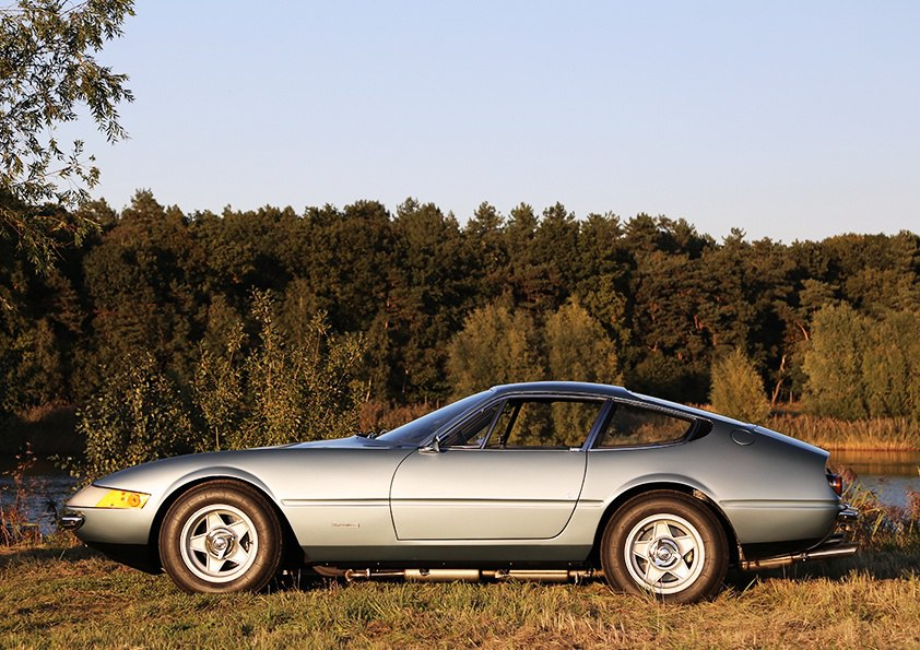 Ferrari 365 GTB 4 Daytona S2 (USA Spec) Stainless Steel Exhaust (1970-74)