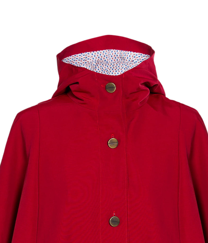 parka cape rouge zoom capuche
