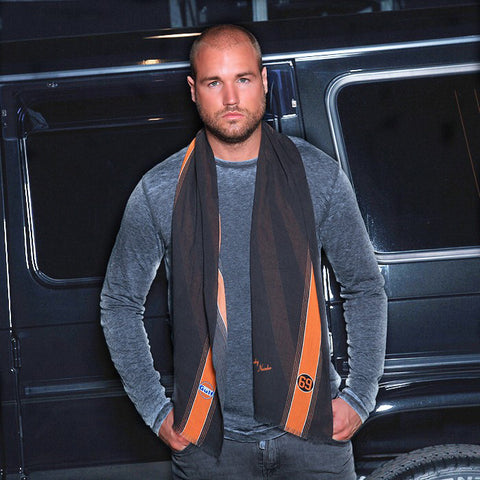 Gulf Black-Orange Scarf Men/Lady