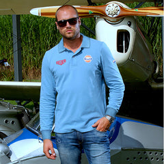 GPO Polo Gulf Blue Long Sleeve