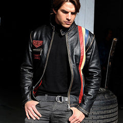 Heuer Vintage Leather Jacket