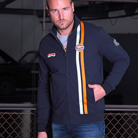 Gulf Racing Zip Navy Blue - Cardigan