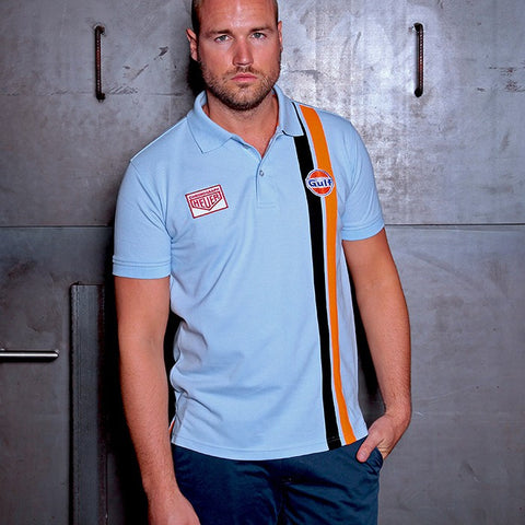 Gulf Stripe Polo light blue