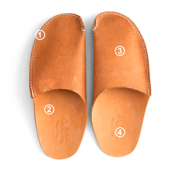 Leather slippers for man and woman quality