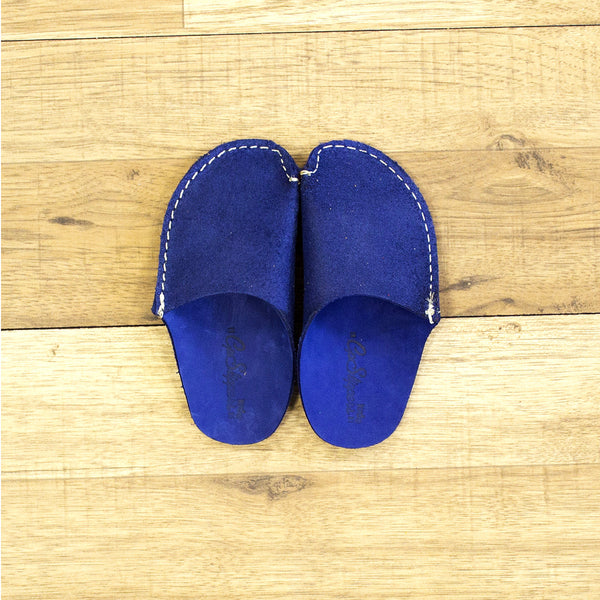 ab99a06f2 Blue Leather Kids Slipper - CP Slippers