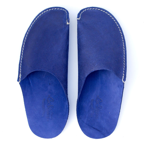 a74980a89 Blue Leather Slippers for Men and Women by CP Slippers