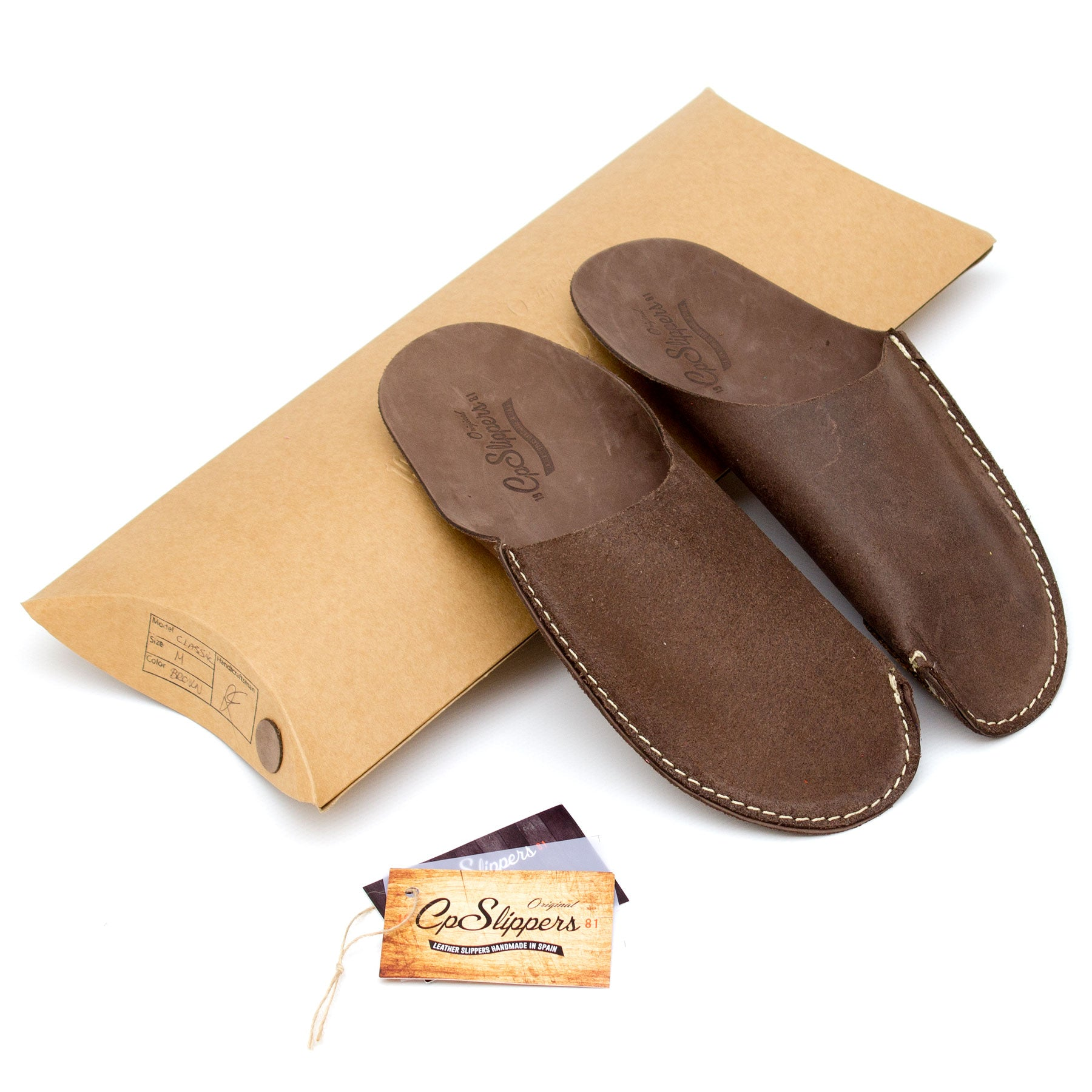 Brown CP Slippers minimalist for stay at home