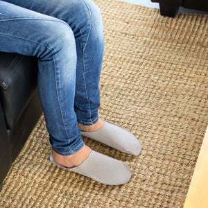 Gray CP Slippers minimalist for man and woman at home