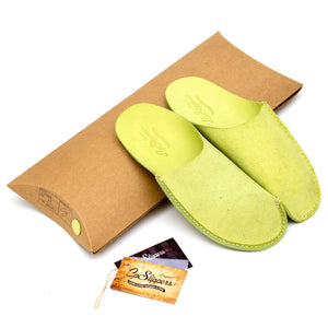 Green CP Slippers minimalist for home shoes