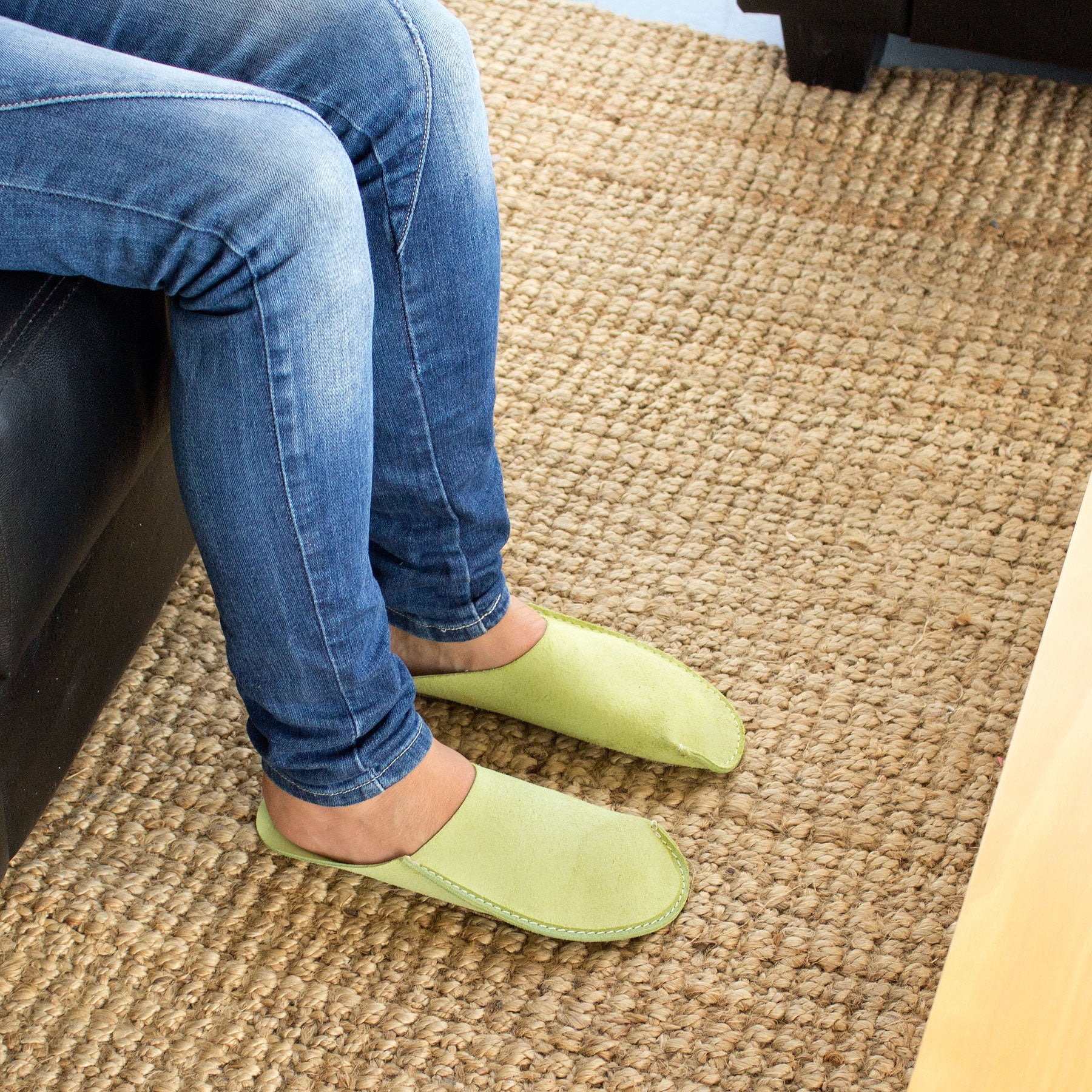 Green CP Slippers minimalist home shoes for man and woman