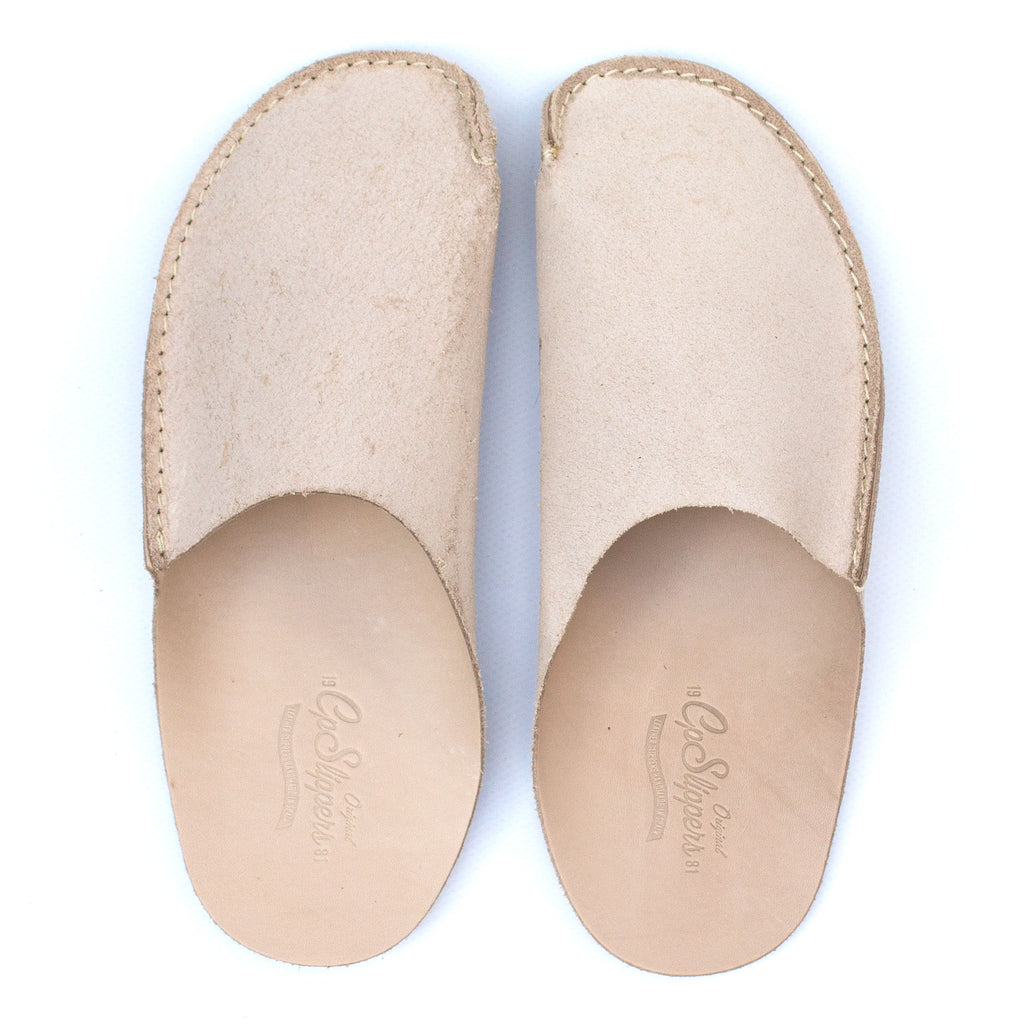 Natural CP Slippers minimalista vachetta veg-tan natural home shoes