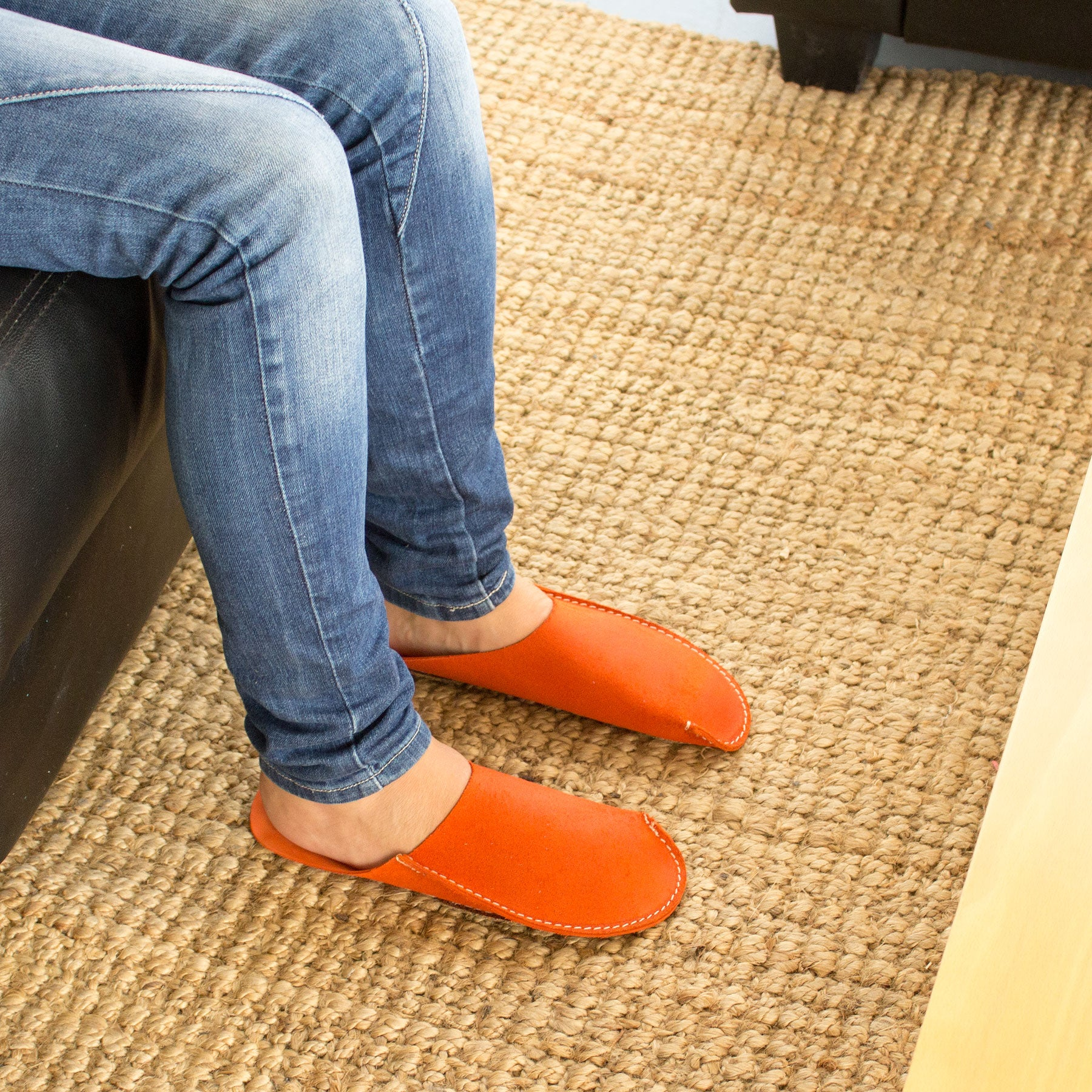 Orange CP Slippers minimalist for man and woman home shoes
